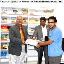MR. IDRIS SHABBIR - Book Review 2nd winner