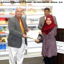 MS. SOHA GHAYUR - Book Review 3rd Winner